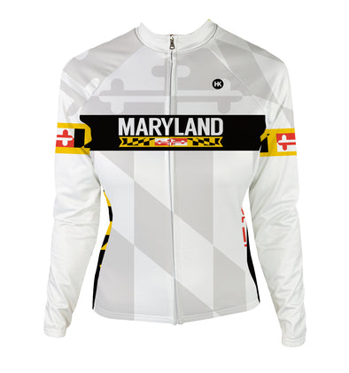 Maryland 2.0 Remix Women's Thermal-Lined Cycling Jersey by Hill Killer