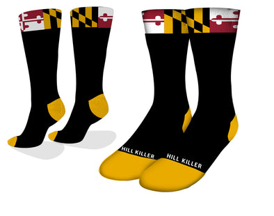 Maryland Flag Cycling Socks
