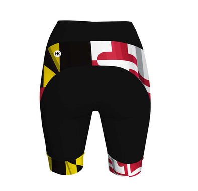 Pride of Maryland Women's Performance Cycling Shorts by Hill Killer