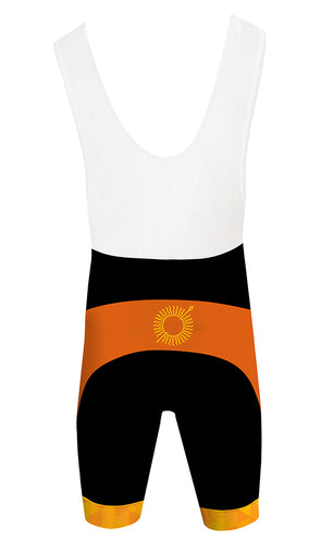 Sun Spear Orange Men's Performance Cycling Bibs by Hill Killer