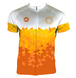 Sun Spear Orange Men's Club-Cut Cycling Jersey by Hill Killer