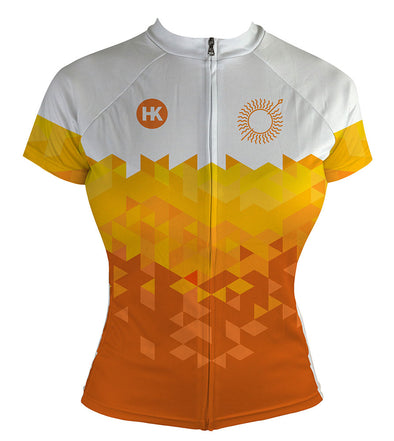 Sun Spear Orange Women's Club-Cut Cycling Jersey by Hill Killer