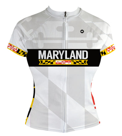 Maryland 2.0 Remix Women's Club-Cut Cycling Jersey by Hill Killer