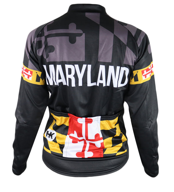 Maryland 'Blackout' Women's Thermal-Lined Cycling Jersey by Hill Killer