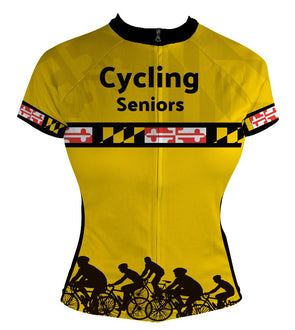 Women's Maryland Cycling Seniors Custom Club-Cut Cycling Jersey by Hill Killer