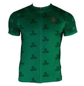 The Shamrock Men's Club-Cut Cycling Jersey by Hill Killer
