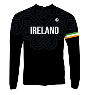 Ireland Men's Thermal-Lined Cycling Jersey by Hill Killer