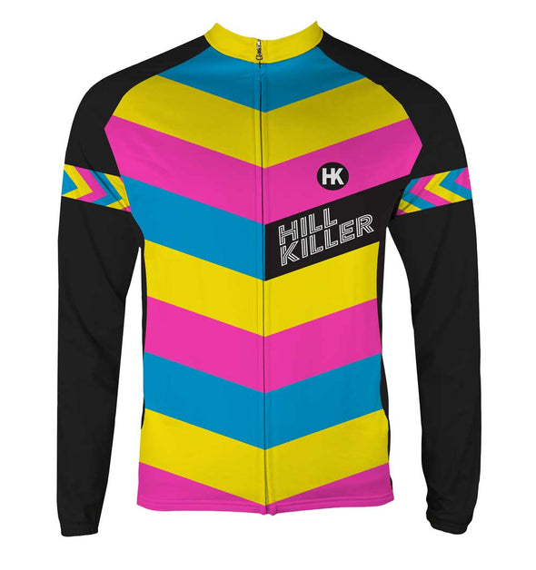 The Unicorn Men's Thermal-Lined Cycling Jersey by Hill Killer