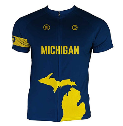 Michigan Men's Club-Cut Cycling Jersey by Hill Killer