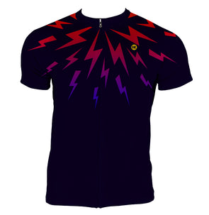 Midnight Lighting Men's Club-Cut Cycling Jersey by Hill Killer
