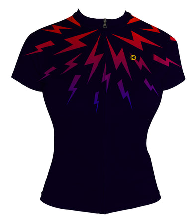 Midnight Lightning Women's Club-Cut Cycling Jersey by Hill Killer