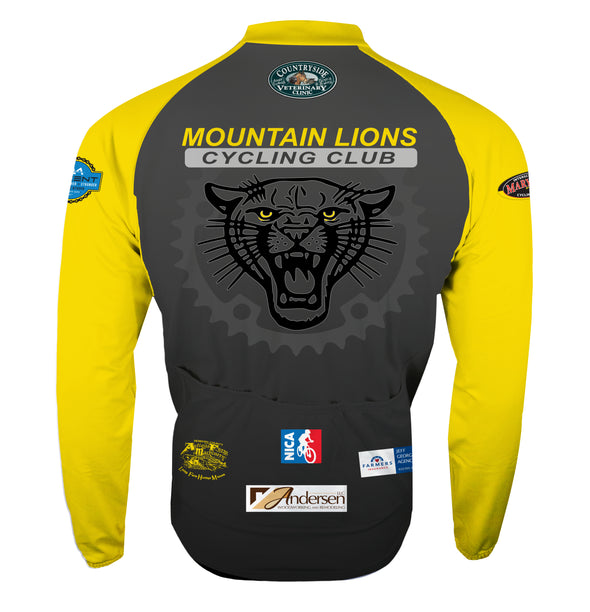Mountain Lions Thermal Cycling Jersey Custom Mountain Lions by Hill Killer