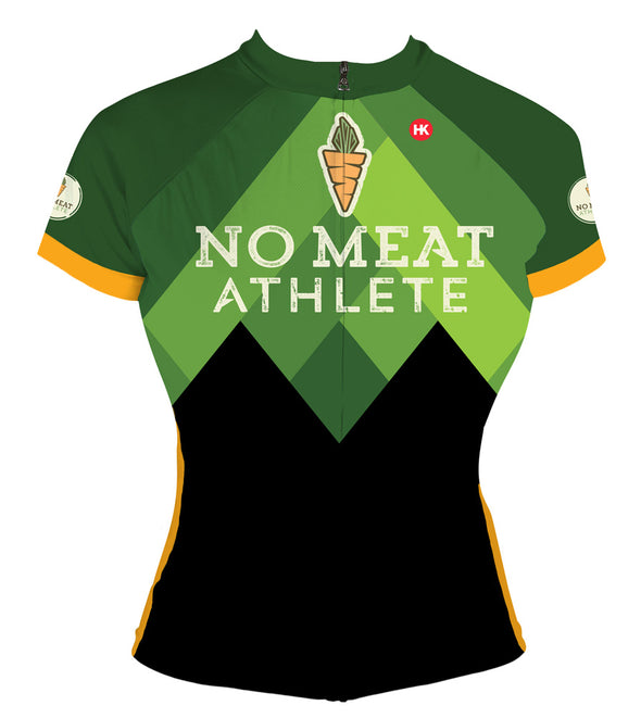 No Meat Athlete Women's Club-Cut Cycling Jersey by Hill Killer
