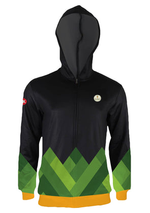 No Meat Athlete Men's Hooded Track Jacket by Hill Killer