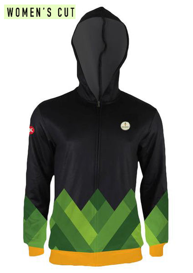 No Meat Athlete Women's Hooded Track Jacket by Hill Killer