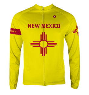 New Mexico Men's Thermal-Lined Cycling Jersey by Hill Killer