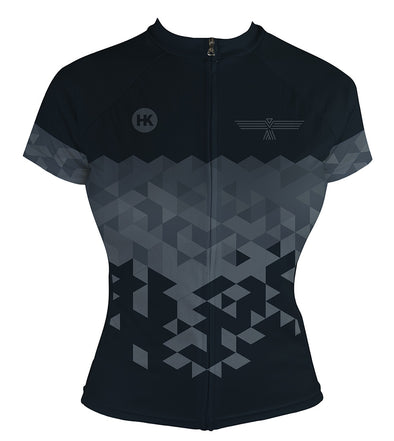 Night Black Women's Club-Cut Cycling Jersey by Hill Killer