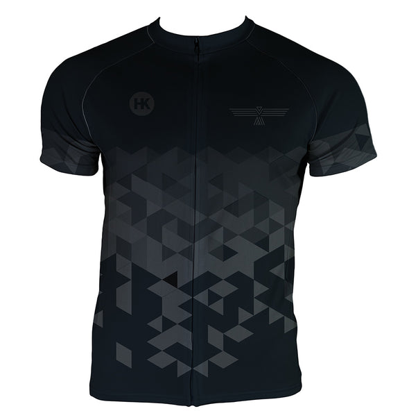 Night Black Men's Club-Cut Cycling Jersey by Hill Killer