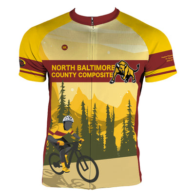North Baltimore County Composite Cycling Jersey Custom Club-Cut Cycling Jersey by Hill Killer