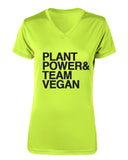 Team Vegan Women's Running V-Neck Plant Power Tech T-Shirt