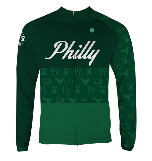 Philly 'Icon' Men's Thermal-Lined Cycling Jersey by Hill Killer