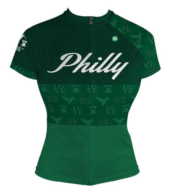 Philly 'Icon' Women's Club-Cut Cycling Jersey by Hill Killer