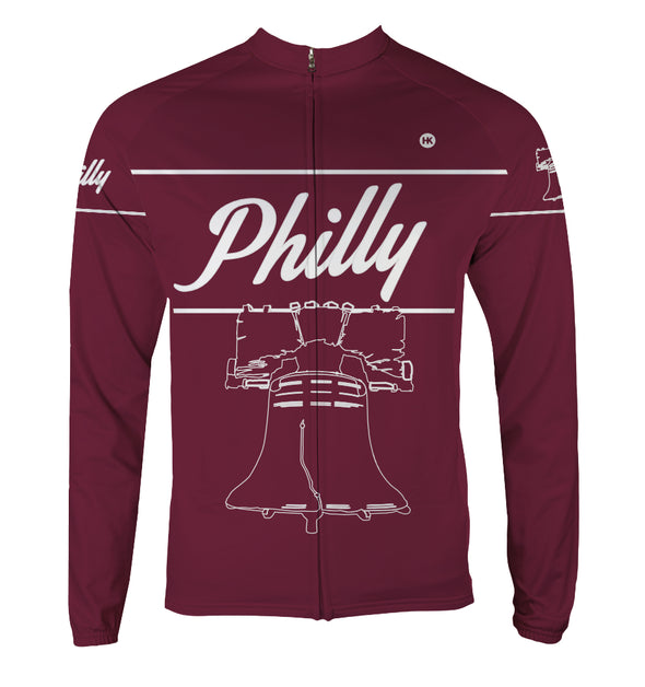 Philly 'Liberty' Men's Thermal-Lined Cycling Jersey by Hill Killer
