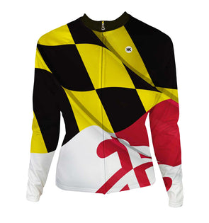 Pride of Maryland Women's Thermal-Lined Cycling Jersey by Hill Killer