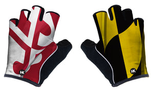 Pride of Maryland Unisex Cycling Gloves by Hill Killer