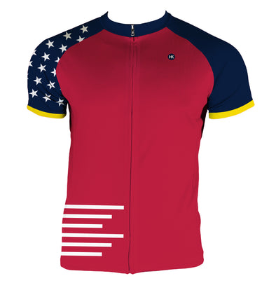 Red, White and Blue Men's Slim Fit Race Cut Jersey by Hill Killer