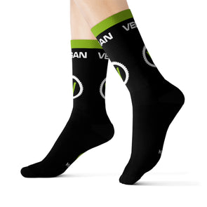 Retro Vegan Socks Unisex Socks by Hill Killer