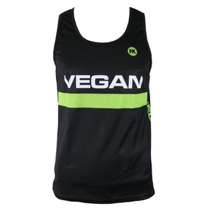 Retro Vegan Men's Running Singlet by Hill Killer