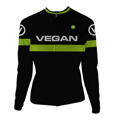 Retro Vegan Women s Thermal-Lined Cycling Jersey by Hill Killer 7498147a7