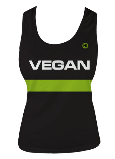 Retro Vegan Women's Running Singlet by Hill Killer