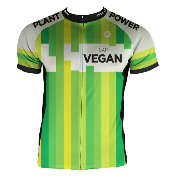 Team Vegan 17 Men's Club-Cut Cycling Jersey by Hill Killer