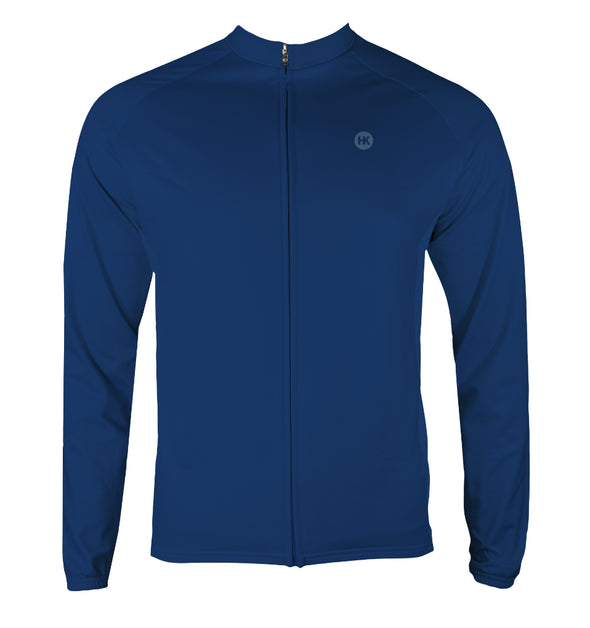 Winter Sky Dusk Men's Thermal-Lined Cycling Jersey by Hill Killer
