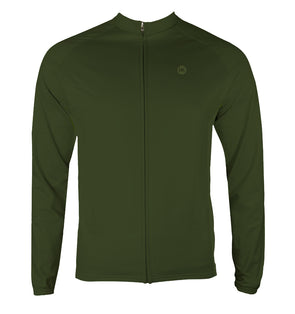 Crocodile Men's Thermal-Lined Cycling Jersey by Hill Killer