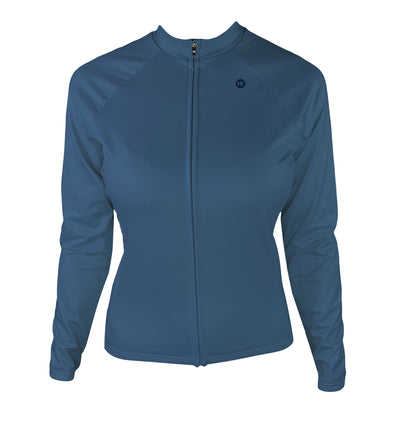 Winter Sky Dawn Women's Thermal-Lined Cycling Jersey by Hill Killer