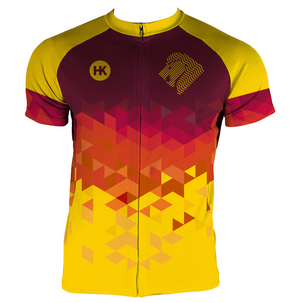 Lion Gold Men's Club-Cut Cycling Jersey by Hill Killer