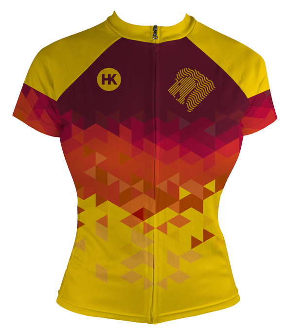 Lion Gold Women's Club-Cut Cycling Jersey by Hill Killer