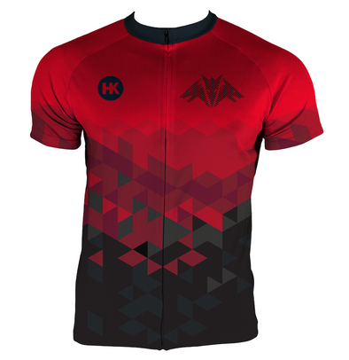 Dragon Red Men's Club-Cut Cycling Jersey by Hill Killer