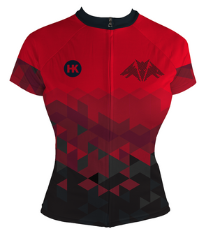 Dragon Red Women's Club-Cut Cycling Jersey by Hill Killer