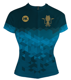 Kraken Blue Women's Club-Cut Cycling Jersey by Hill Killer