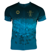 Kraken Blue Men's Club-Cut Cycling Jersey by Hill Killer