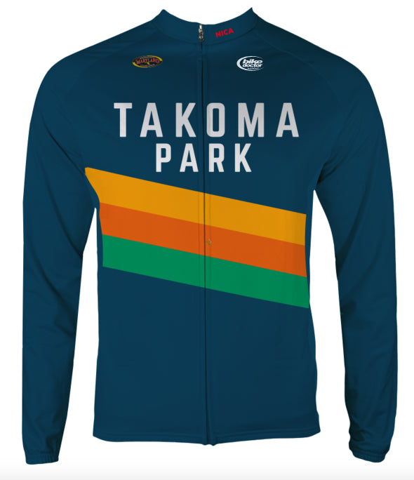 Takoma Park Thermal Cycling Jersey Custom Takoma Park by Hill Killer