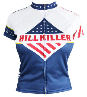 Stars & Stripes Women's Club-Cut Cycling Jersey by Hill Killer