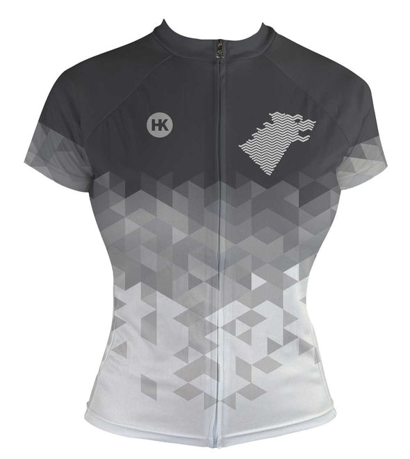 Direwolf Grey Women's Club-Cut Cycling Jersey by Hill Killer