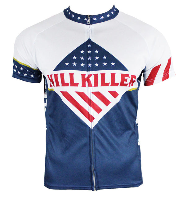 Stars & Stripes Men's Club-Cut Cycling Jersey by Hill Killer