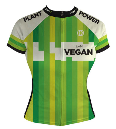 Team Vegan 17 Women s Club-Cut Cycling Jersey by Hill Killer 2d5cd5934