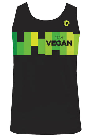 Team Vegan 17 Women's Running Singlet by Hill Killer